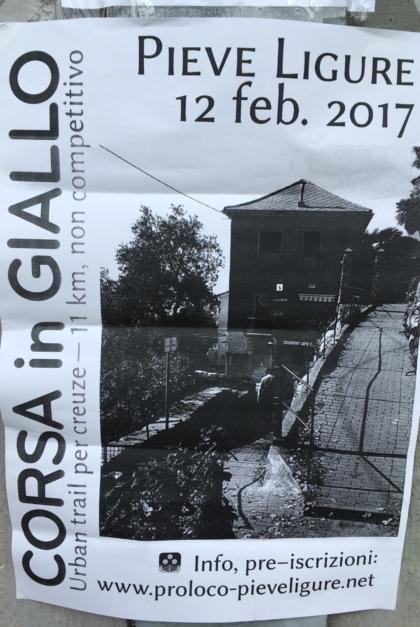 Corsa in Giallo 2017 2018 Pieve Ligure