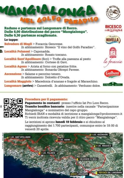 Mangialonga Recco eventi di marzo a Genova