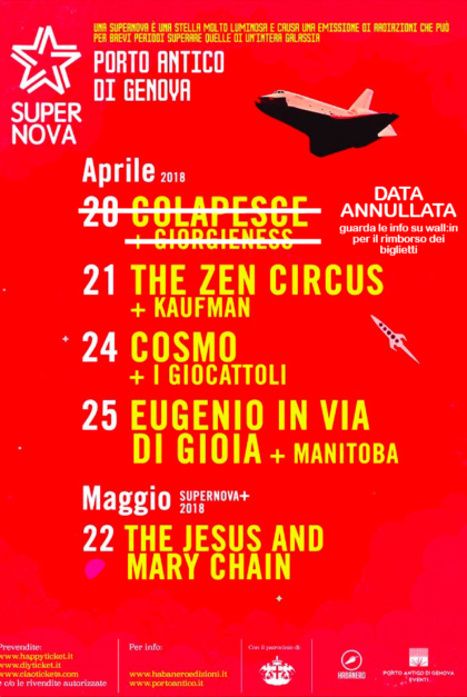 Supernova Genova eventi di marzo a Genova