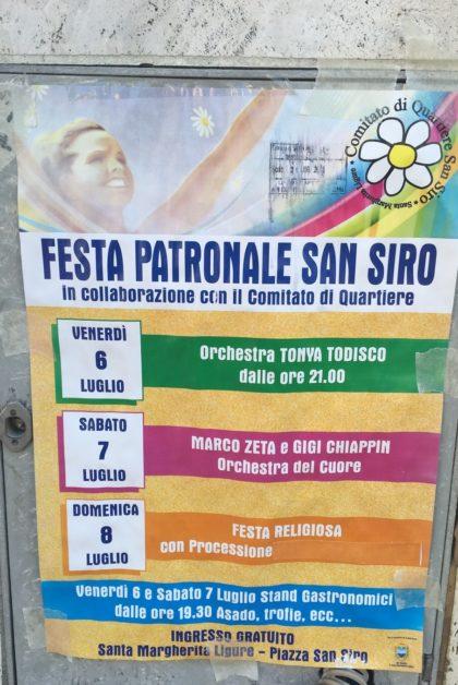 eventi di santa margherita Festa Patronale San Siro 2018