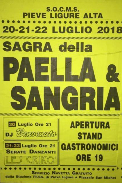 Eventi Genova 2018 Sagra della Paella e Sangria