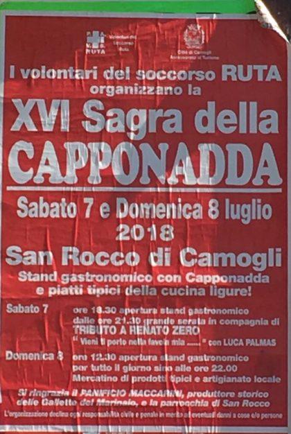Eventi Genova 2018 XVI Sagra della Capponadda