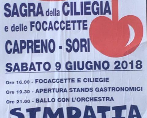 Eventi Genova Giugno 2018 59a Sagra della ciliegia e della focaccetta Sori