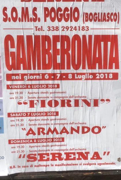 eventi di Bogliasco Gamberonata Bogliasco 2018