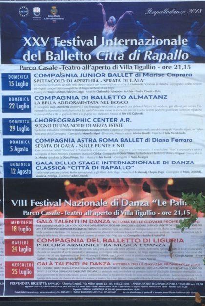 eventi di Rapallo XXV Festival Internazionale del Balletto