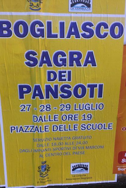 eventi di Bogliasco sagra dei Pansoti Bogliasco 2018