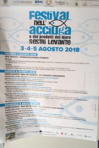 Eventi Genova Sestri levante agosto 2018 Festival dell'acciuga