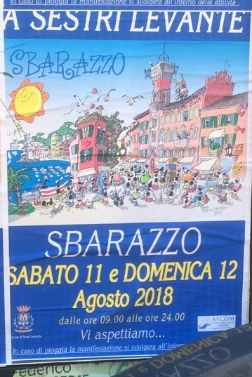 Eventi Sestri Levante Genova Agosto 2018 Sbarazzo