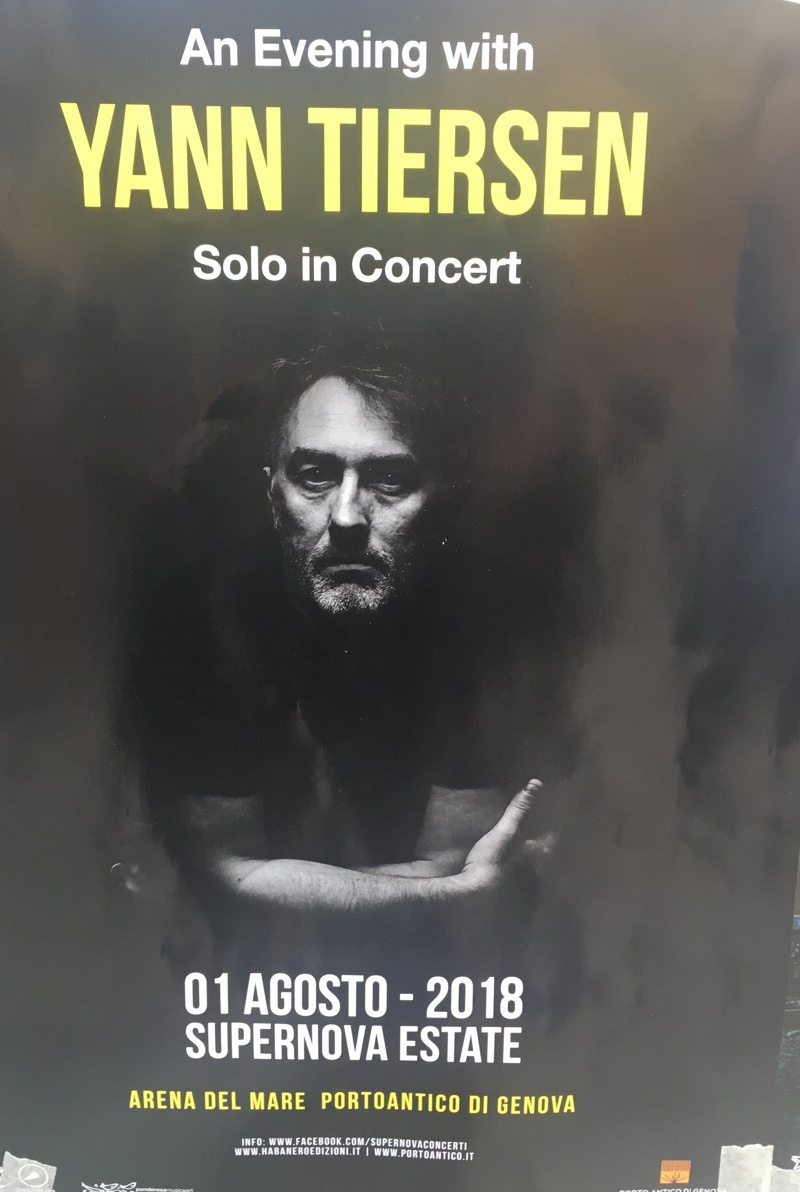 Eventi a Genova Arena del Mare Luglio 2018 - Supernova-An evening with Yann Tiersen
