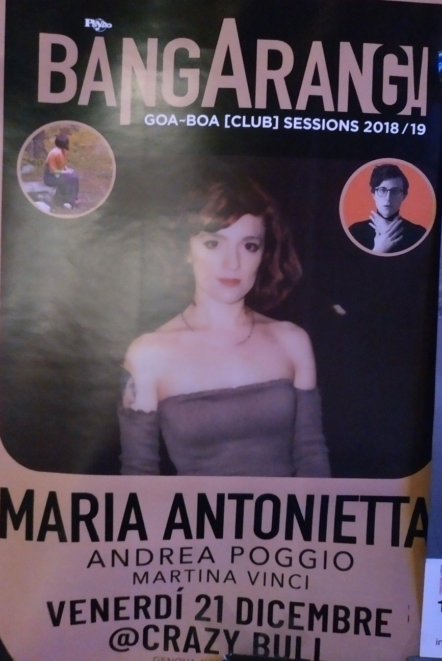 Maria Antonietta Crazy Bull Café Via Eustachio Degola 4, 16151 Genova Dal 21/12/2018 Al 21/12/2018 21:00 - 02:00