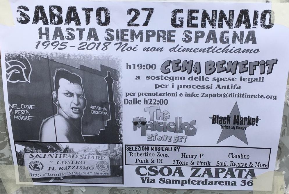 Hasta Siempre Spagna CSOA Zapata Via San Pier d'Arena 36, 16151 Genova Dal 27/01/2018 Al 27/01/2018 22:00 - 03:00