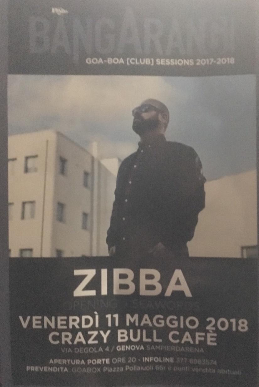 Zibba Crazy Bull Café Via Eustachio Degola 4, 16151 Genova Dal 11/05/2018 Al 11/05/2018 21:00 - 01:00