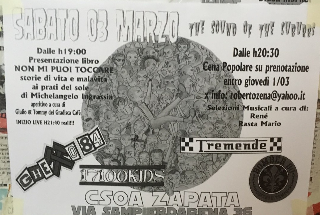 The Sound of the Suburbs CSOA Zapata Via San Pier d'Arena 36, 16151 Genova Dal 03/03/2018 Al 03/03/2018 21:00 - 02:00