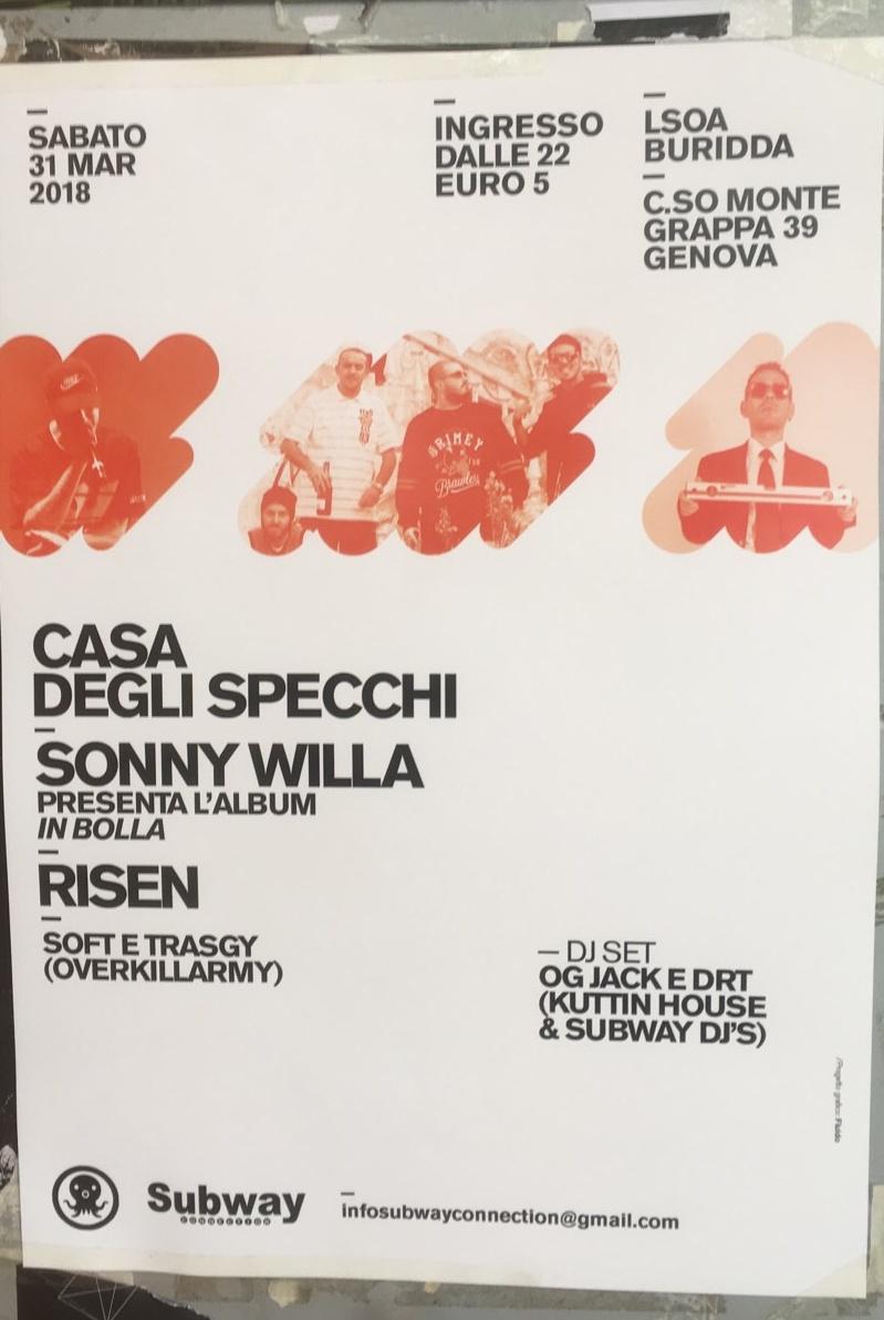Casa degli Specchi LSOA Buridda Corso Monte Grappa 39, 16137 Genova Dal 31/03/2018 Al 31/03/2018 21:00 - 03:00