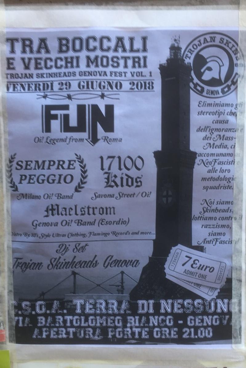 Tra Boccali e Vecchi Mostri CSOA TDN - Terra Di Nessuno Via Bartolomeo Bianco 4, 16127 Genova Dal 29/06/2018 Al 29/06/2018 21:00 - 04:00