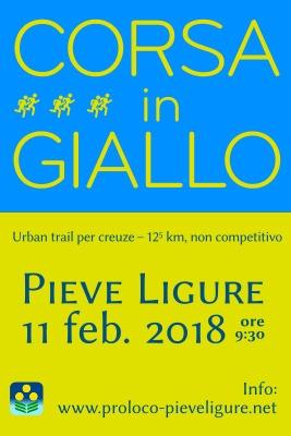 Corsa in Giallo 2018 Centro di Pieve Ligure Piazzale S. Michele, 16031 Pieve Ligure GE Dal 11/02/2018 Al 11/02/2018 08:30 - 12:00
