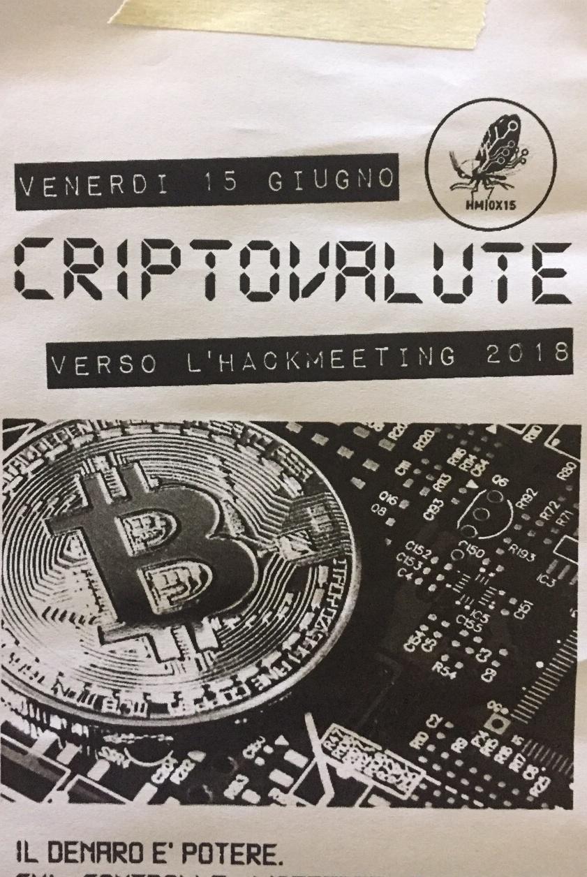 Criptovalute AutAut357 Via delle Fontane 5, 16123 Genova Dal 15/06/2018 Al 15/06/2018 19:00 - 01:00