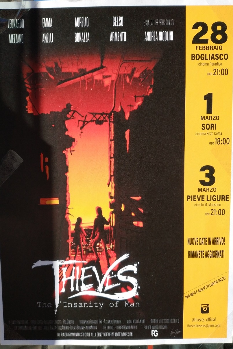 Thieves - The insanity of man Circolo M. Massone Piazzale S. Michele 18, 16031 Pieve Ligure Dal 03/03/2019 Al 03/03/2019 21:00 - 00:00