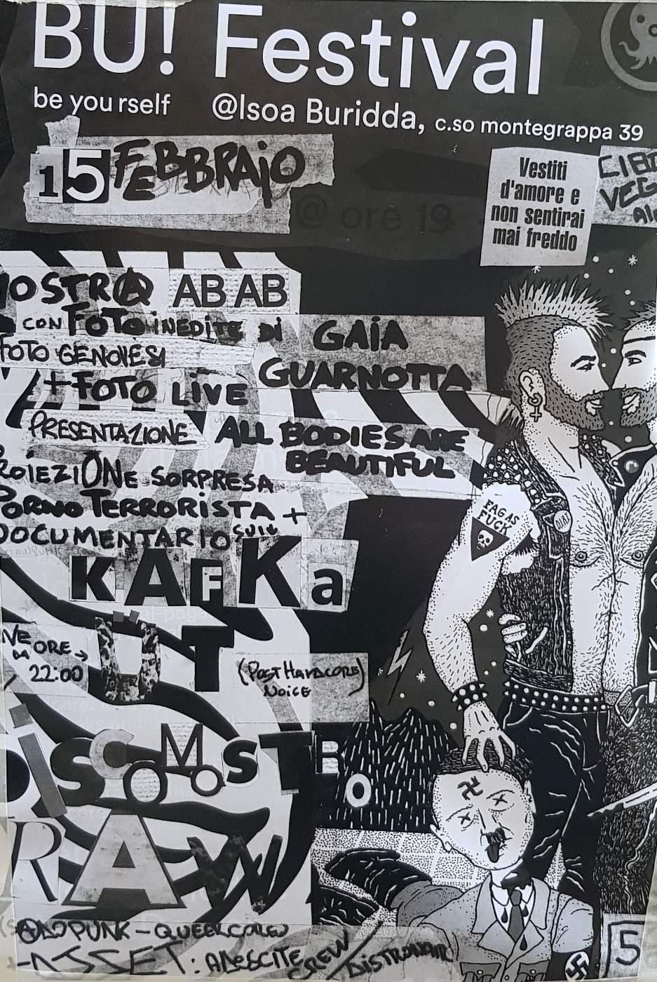 BU! Festival LSOA Buridda Corso Monte Grappa 39, 16137 Genova Dal 15/02/2019 Al 15/02/2019 19:00 - 03:00