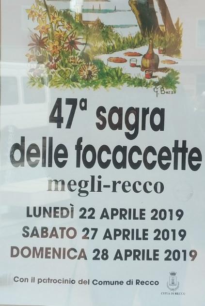 47ª Sagra delle Focaccette Megli Recco Dal 22/04/2019 Al 22/04/2019 Dal 27/04/2019 Al 28/04/2019 12:00 - 23:00
