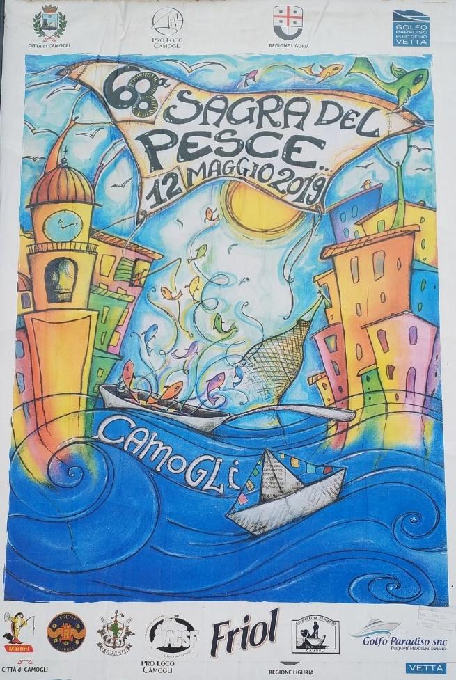 68ª Sagra del Pesce 2019 Centro di Camogli Via XX Settembre 14, 16032 Camogli Dal 12/05/2019 Al 12/05/2019 09:00 - 00:00