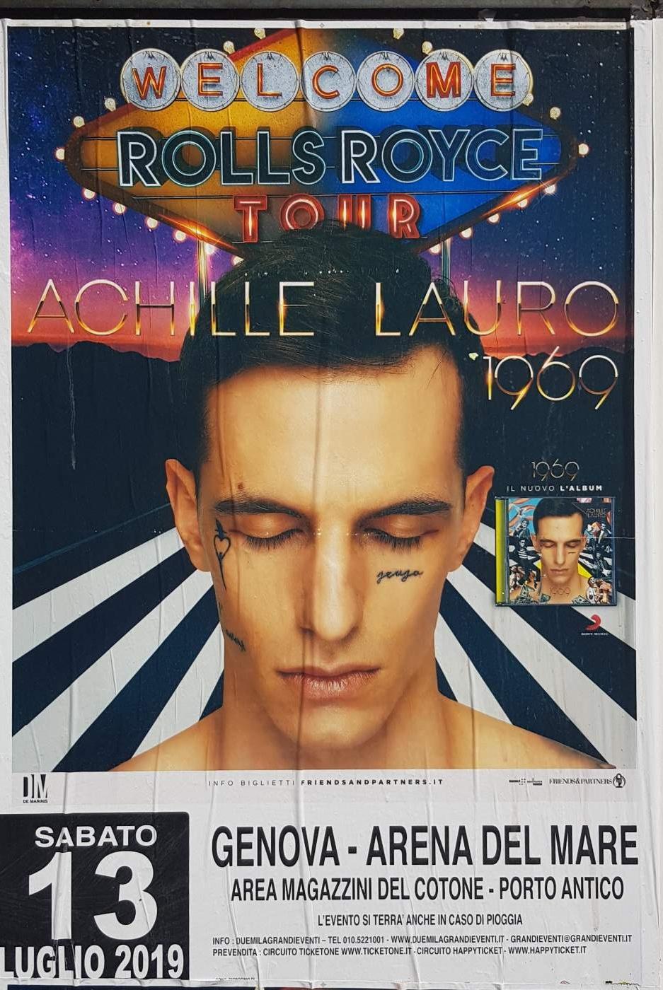 Achille Lauro Arena del Mare Belvedere dei Dogi, 16128 Genova Dal 13/07/2019 Al 13/07/2019 21:30 - 02:00